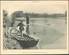 LOT-ET-GARONNE PECHE AVEC COULETTE FILET DANS LA GARONNE IMAGE 1900