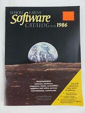 1986 Whole Earth Software Catalog,Games,Drawing,Programming,Vtg,Many Screenshots
