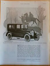 Vintage 1924 magazine ad for Buick - five passenger Sedan and statue in park