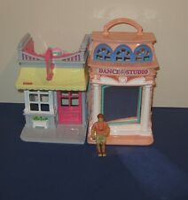 2001 Fisher Price Sweet Streets Dance Studio & Candy Shop w/ Vacation Boy