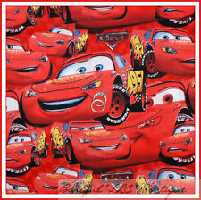 BonEful Fabric FQ Cotton Red Lightning Mc Queen Toy Disney Movie Sport Boy Car*s