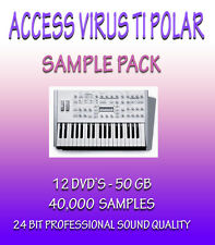 ACCESS VIRUS TI POLAR - FOR PROPELLERHEADS REASON + WAV FORMAT - 12 DVD'S