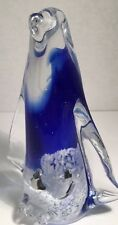 RARE VINTAGE ART GLASS MURANO MOTHER PENGUIN W/ TWO BABIES PAPERWEIGHT