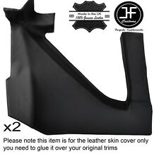 BLACK STITCH 2X REAR UPPER PANEL LEATHER COVER FITS RENAULT ALPINE GTA V6