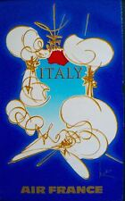 AIR FRANCE ITALY Vintage Airlines Travel poster 1968 GEORGE MATHIEU