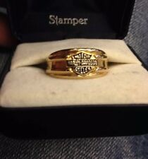 NIB Harley Davidson Ring Wedding Band Or Not  2 Matching 8/12 Men's/Womans