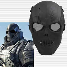 Black Skull Skeleton Full Face Mask Tactical Airsoft Paintball Protect Safety