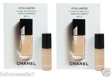 Chanel VITALUMIERE SATIN SMOOTHING FLUID MAKEUP #20 Claire 2.5ml X 2