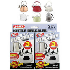2X3 Kettle Descaler 6 Tablet Cleaner Prevent Fur Furring Easy Clean Remover Pack