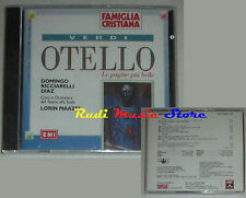 CD VERDI Otello RICCIARELLI DOMINGO DIAZ LORIN MAAZEL 1996 SIGILLATO lp mc dvd