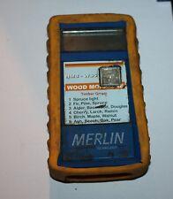 Merlin HM8-WS5 wood moisture tester, overlay film damaged around button- works