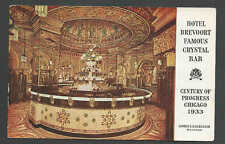 1933 PPC* CHICAGO CENTURY OF PROGRESS WORLDS FAIR CARD W/CRYSTAL BAR SEE INFO