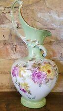 Nice Floral Ewer Vase By Royal Bonn Germany Stamped Franz Anton Mehlem