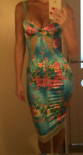 NWT DOLCE & GABBANA ITALY blue floral print lace dress ITALIAN size 40