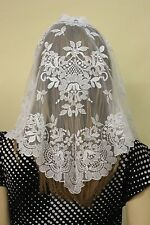 Ivory Spanish style veils and mantilla Catholic church chapel lace Mass latin L