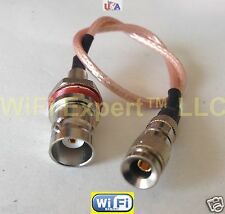 BNC female bulkhead Oring to DIN 1.0/2.3 male Straight RG179 Pigtail cable 75ohm