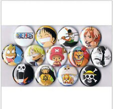 One Piece Anime set of 13 pins buttons Luffy  Zolo  Chopper Sanji D. Law Usopp C
