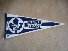 "VINTAGE ORIGINAL 1988 TORONTO MAPLE LEAFS PENNANT FULL SIZE 30"" & FREE HOLDER!"