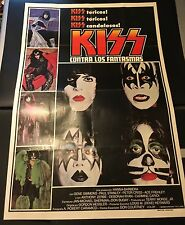 Kiss Argentina 1978 Kiss Meets The Phantom Promo Poster.  Factory Folded! RARE!!