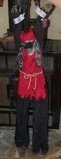 HALLOWEEN HANGING ANIMATED LIGHTED TALKING PIRATE SKELETON CHAINS FIGURE PROP 4'