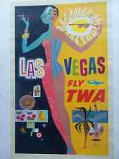 Metal Sign 1960S Twa Las Vegas Travel Poster David Klein A4 12X8 Aluminium