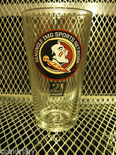 FSU SEMINOLES COORS LIGHT ~ NEW ~ SET of 2 ~ Beer 16oz Pint Glasses Orange Bowl