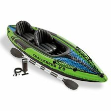 Kayak Intex K2 Challenger Two Person Inflatable Canoe Plus Paddles and Pump