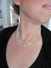 collier ancien pierres du rhin, rhinestone french necklace