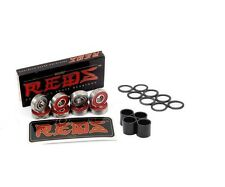 New Bones REDS Precision 8mm Skate Bearings  FREE SHIPPING SPACERS & WASHERS