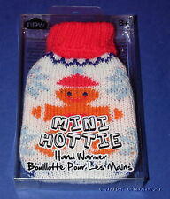 MINI HOTTIE * Gel Hand Warmer * Gingerbread Man * Knitted Cover * Christmas *