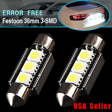 "2 X Canbus Festoon 36mm 1.50"" License Plate / Map Dome LED Light 6418 C5W 6411"