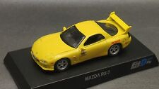 Kyosho 1/64 Mazda RX-7 Fd3S Yellow Initial D Ver new