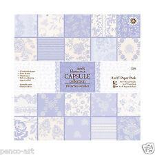 """Papermania 8x8"""" Cápsula de Colección 32 hojas de papel Scrapbooking cantueso"""