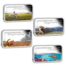 2015 $1 SUNBURNT COUNTRY 1OZ SILVER PROOF RECTANGLE FOUR COIN SET