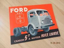 catalogue FORD CARGO 5 tonnes à moteur à huile lourde
