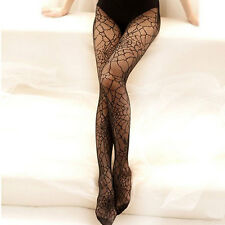 New Women Lady Pantyhose Spring Thin Tights Sheer Elastic Spider Web Long Socks