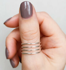 Silver Spiral Thumb Ring, Wire Thumb ring, Silver thumb ring, Wrap thumb ring,