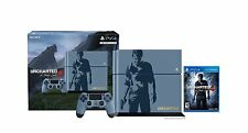 NEW Uncharted 4 Limited Edition Blue 500GB Sony Playstation 4 Console Bundle
