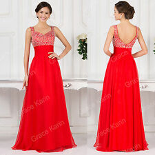 Stunning Long Evening dress Formal Party Ballgown Prom Red Bridesmaid Dresses