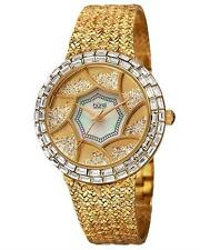 BURGI BUR118YG WATCH GENUINE CRYSTALS AND MOTHER OF PEAPLS WOM WATCH. BRAND NEW