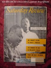 Saturday Review January 14 1956 COUNT BASIE JOE WILLIAMS JOHN STEINBECK