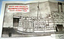TITANIC Fold Out Deck Plans Old Ship Retro Book Picture Photo Antique Leaflet