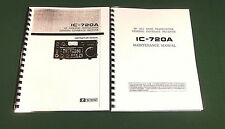 Icom IC-720A Instruction & Service Manuals: Card Stock covers & 32lb Paper!