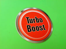 TURBO BOOST BUTTON Race Rally Novelty Car Dash Sticker 1 off 50mm