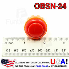 Sanwa Denshi Original OBSN-24 RED Push Button Screw Type secure JAMMA