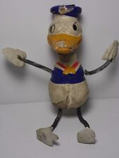 RARE OLD ANTIQUE VINTAGE 1930s DONALD DUCK COMPOSITION DOLL TOY WALT DISNEY AsIS