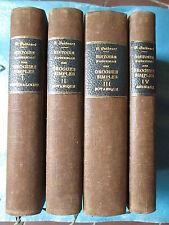 GUIBOURT : HISTOIRE NATURELLE DES DROGUES, 1876. 4 volumes complet.