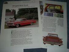 """1959 Chevy El Camino History Info Article """"Winged Work Truck"""""""