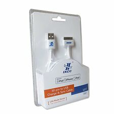 Brand New iXCC Charger Cable USB Charging Data Cable Apple MFi for iPhone 4 4s 3