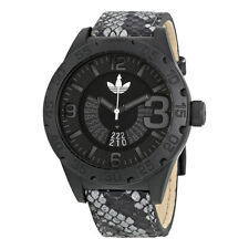 Adidas Newburgh Black Dial Black Leather Mens Watch ADH3042